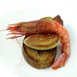 Foie Gras con gambero rosso